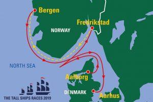 Tall Ships Race 2019 map